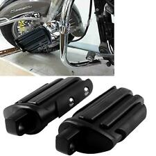 Black Foot Pegs Footrest Pedal For Harley Davidson Touring Softail Footpegs
