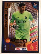 Match Attax Champions league 2017/18 Iker Casillas Bronze Limited Edition 2017