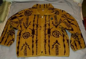 Supreme SOUTH2 WEST8 Fleece Jacket Mustard Size XL SS21 in hand