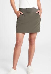 ATHLETA Soho Skort Skirt Mountain Olive  #211382  Travel Hiking Sz 10
