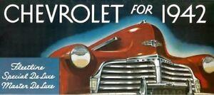 CHEVROLET 1942 Sales Brochure 42 Chevy