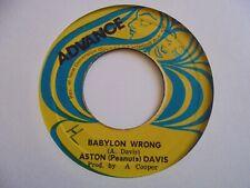 "New ListingAston Peanuts Davis Babylon Wrong Advance Roots Reggae 7"" Hear"
