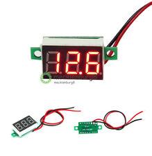 2PCS Mini Red LED Panel Voltage Meter 3-Digital Adjustment Voltmeter DC 4.7~32V