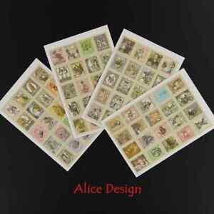 Alice in Wonderland Stamp Stickers x 4 Sheets