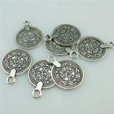 10stk Antike Silber Münze Anhänger Ohrring Halskette Schmuckmünze Kette DIY
