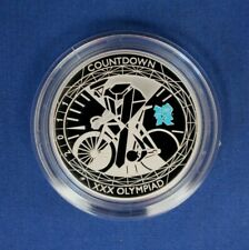 """2011 Silver Proof £5 coin """"Olympic Countdown"""" in Capsule"""