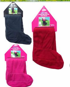 Womens Winter Warmer Fleece Wellington Boot Socks Welly Liner Long Socks 4-7 UK