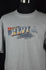 NFL Team Apparel Mens Large Super Bowl XLVI 2012 Indianapolis Winners Stats NEW