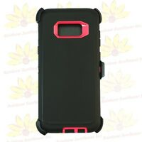 Black Pink For Samsung Galaxy S8 Plus Case Cover w/[Clip Fits Otterbox Defender]