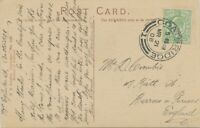 "GB SCOTTISH VILLAGE POSTMARKS ""COATBRIDGE / 1"" superb strike (28mm) pc 1908"