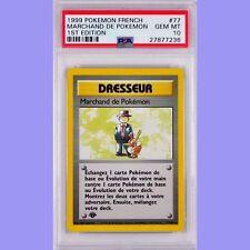 Pokemon 1st Edition Pokemon Trader 77/102 French Base Set PSA 10 Gem Mint Pop 2
