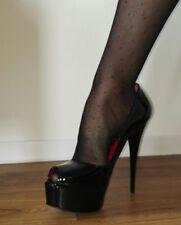 Zapatos señora zapatos de salón sandalias tacones bailarinas calcetas plataforma pepitas charol