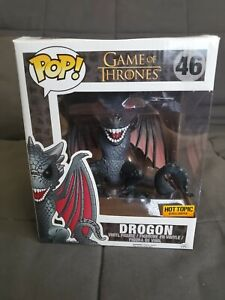 Funko Pop Drogon 6in. Hot Topic Exclusive. Box damage. Game of Thrones