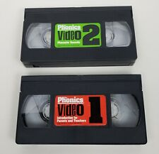 The Phonics Game Replacement Pieces Vhs Video 1 and 2