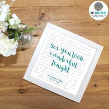 More details for eric clapton 'wonderful tonight' - favourite lyrics framed print - wedding gift