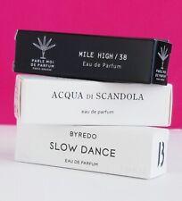 Niche Lot: D'Empire Acqua di Scandola, Parle Moi Mile High 38, Byredo Slow Dance