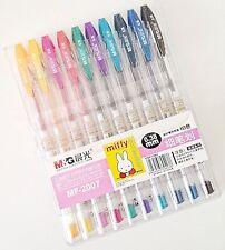 M&G Miffy premium quality cute kawaii kitsch 10 colour set 0.38mm gel ink pens