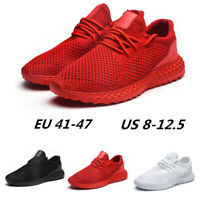 Athletic Mens Fashion Sports Gym Shoes Walking Running Sneakers Breathable
