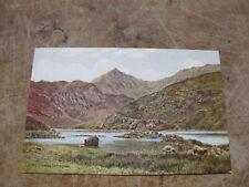 J Salmon postcard - Llyn Llydawa Snowdon - Artist A.R Quinton