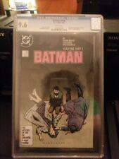 Batman #404 Year One Part One CGC Graded 9.6 NM+ DC Comics 1987 Miller Story