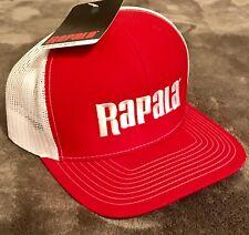 NEW Rapala Trucker Fishing Cap Red/White Mesh Center Logo RTC100