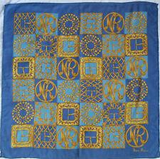 -Authentique Foulard  NINA RICCI   100% coton  TBEG vintage scarf