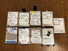 Lot of (9) Hard Drives (Seagate, Western Digital, Fujitsu, Toshiba)
