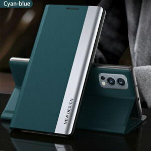 Magnetic Leather+PC Flip Cover For OnePlus Nord 2 5G / N200 Stand Slim Case