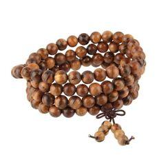 Tibetan Buddhist Natural Wood 108 Beads Prayer Mala Wrap Bracelet Necklace