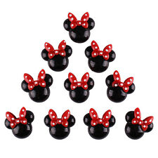 Lot 10 pcs Black Minnie with Red Bow Resin Flatback Scrapbooking Hair Bow Center