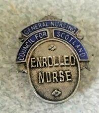 More details for vintage sterling silver scottish enrolled nurse  badge - w.c smith 1972