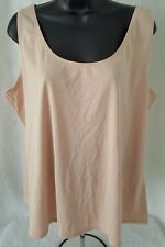 Antthony NWT Woman's Plus Brown Sleeveless Cami Shirt Size 1X