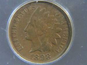 1898 US Indian Head 1c Penny Cent COIN ICG Graded VF 30