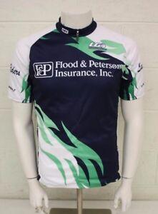 LG Louis Garneau Flood & Peterson Insurance 3/4-Zip Cycling Jersey Unisex L/XXL