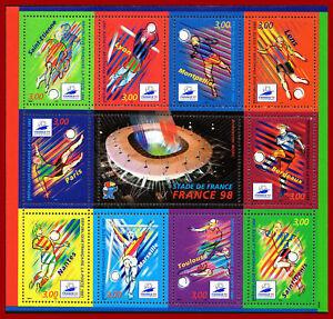 France 1998  Coupe du monde de football France 98, bloc 19, BF19 ** MNH
