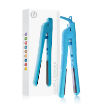 Herstyler Colorful Seasons Ceramic Flat Iron, Dual Voltage, 1.25 Inch, Blue