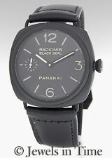 Panerai Radiomir Black Seal Pam 292 Steel Ceramic Mens Watch Box/Papers PAM00292
