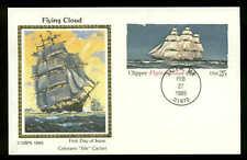 "U.S. FDC #UX107 Colorano ""Silk Cachet Salem, MA Clipper Flying Cloud"
