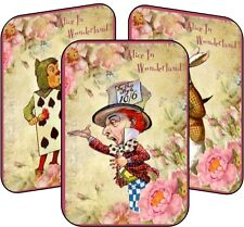 Alice in Wonderland Mad Hatter tea party 8 tent cards table party decoration