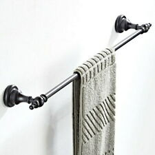 Oil Rubbed Bronze Wall Mounted Bathroom Towel Rack Bar Single Rail Holder