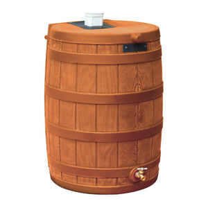 Good Ideas Rain Wizard Storage Collection Rain Barrel 50-Gallon, Terra Cotta