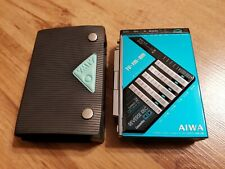 Very RARE TURQUOISE cassette walkman player Aiwa HS-J9 with case