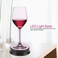 LED Colorful Light Rotating Crystal Display Base Stand Holder Crystal Art  Decor
