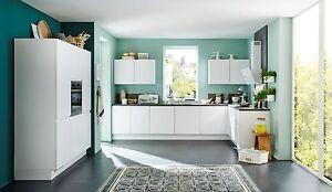 Nobilia Küche Inline Lack Alpinweiß matt
