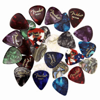 NEW Fender Premium Picks Sampler - 24 Pack Includes Thin Medium & Heavy Gauges