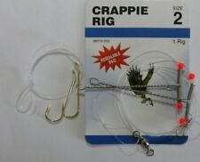 EAGLE CLAW Crappie Rigs Size 2 With 2 Hooks# 06010-002