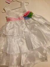 New Mud Pie  Toddler Girls Ivory Silk Dress ,Sizes 3,4,5