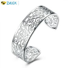 """925 Sterling Silver Filigree Cuff Bracelet 7"""" Great Gift For Valentine's Day New"""