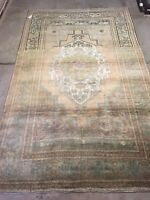 Anatolian Turkish Ushak Rug,5'10X9'5 Excellent Condition,high Pile