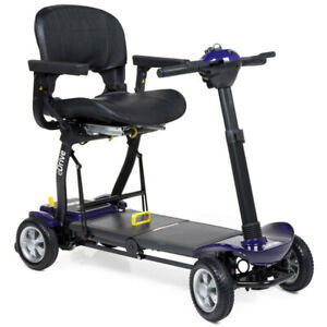 Motion Healthcare eDrive Automatic Folding Mobility Scooter with Remote - Purple